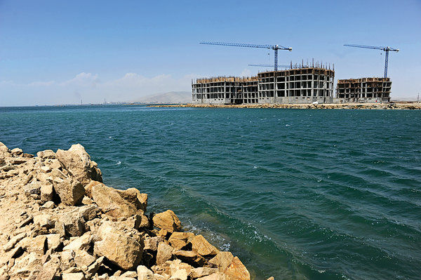 Bakü Khazar Islands Yapım Aşaması