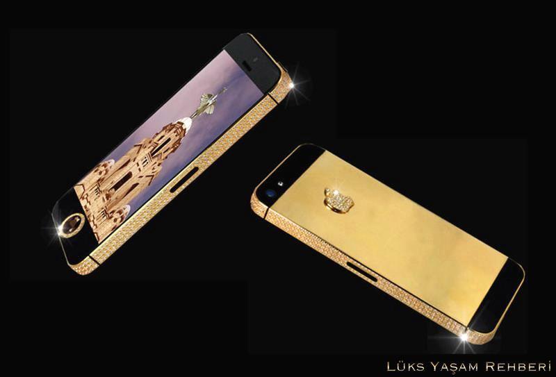 Siyah Elmas Taşlı iPhone 5