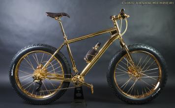 The House of Solid Altın Kaplama Bisiklet