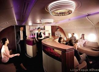 Qatar Airways First Class Onboard Lounge
