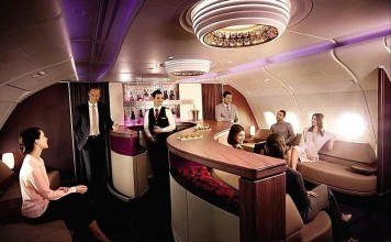 Qatar Airways First Class Onboard Lounge