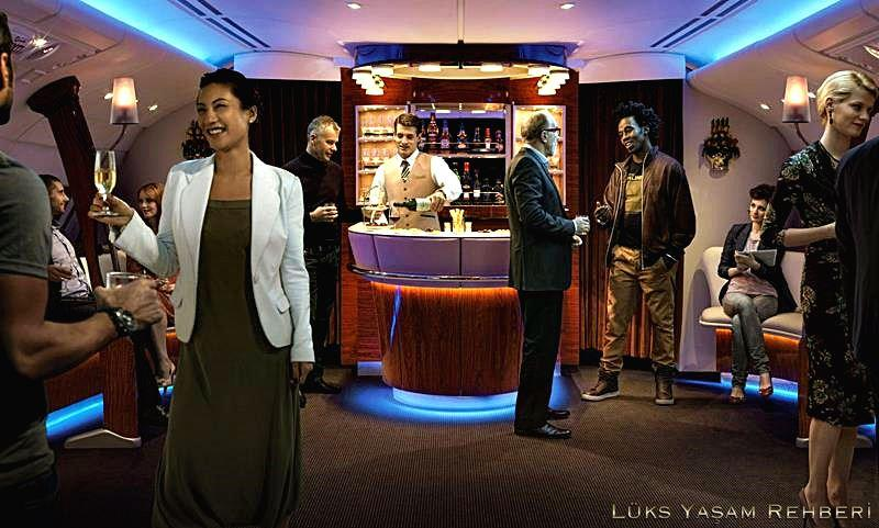 American Airlines 777-300ER Walk-up Bar