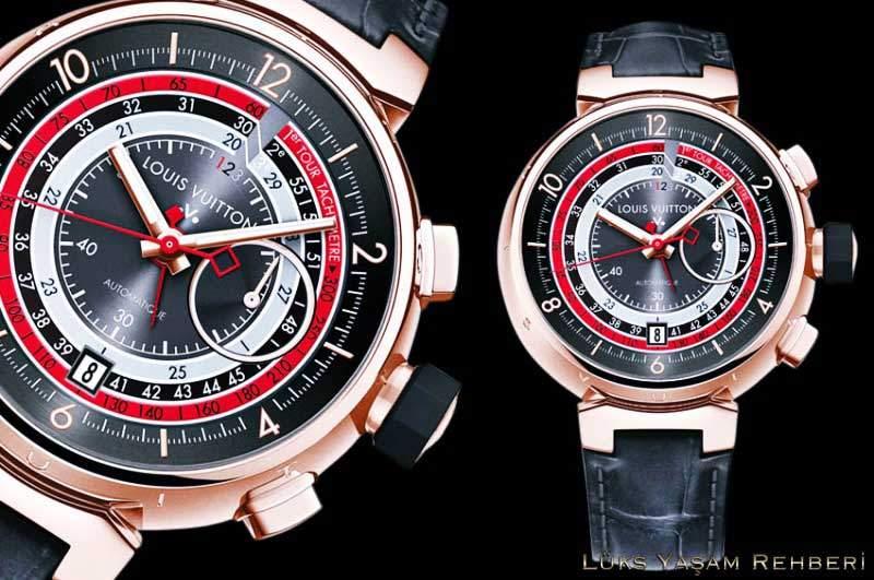 Louis Vuitton Tambour Voyagez Automatic Chronograph Saat