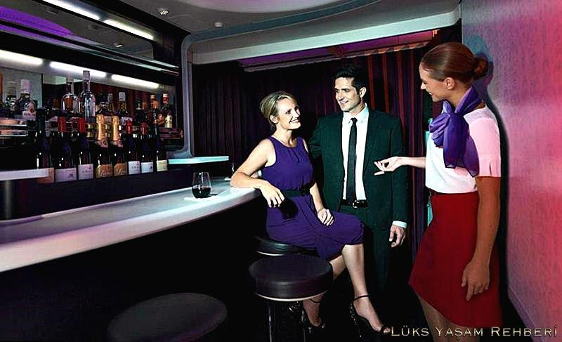 Virgin Australia Boeing 777 onboard bar