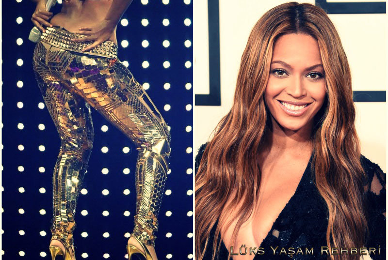 Beyonce Altın Tayt