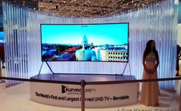 Samsung Curved 105-Inch 4K LED TV